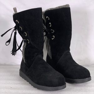 Muk Luk Luanna Tassel Accent Pull on Boots (A22-6B